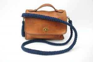 Commission - Bag Strap In Navy Cotton