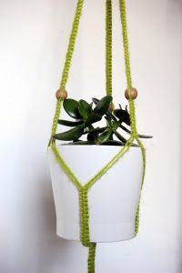 Green braid jute wiht beads