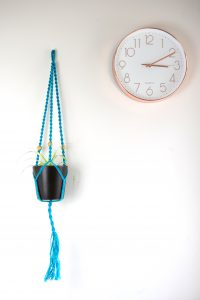 blue jute with beads