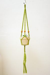 green jute with beads