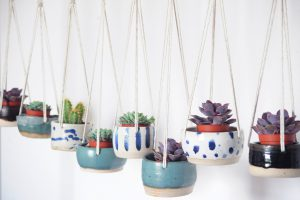 Mini Ceramic Hanging Pots