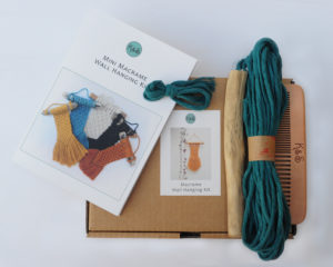 Blue mini wall hanging kit
